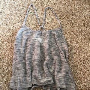 Grey knit tank top
